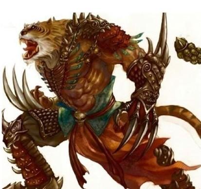 神兽 凶兽 中国古代神话/异兽:《陆吾》开明兽