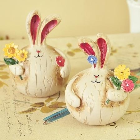 1,幸福情侣兔       这是一款欧式田园家居摆件,胖胖的小兔子可爱又