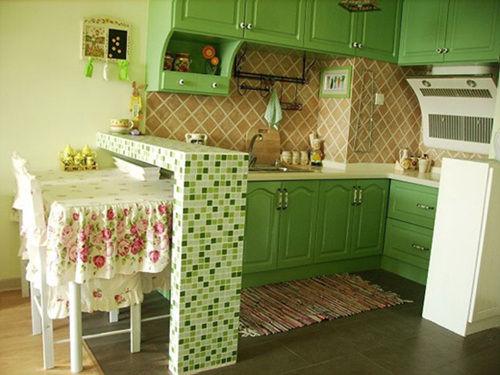 多图晒绿色田园韩式风格单身公寓